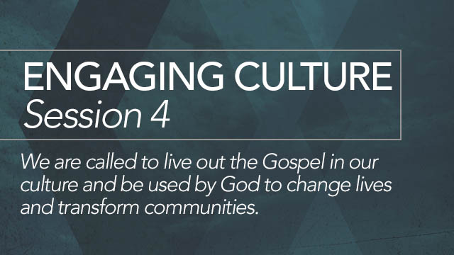 Engaging Culture: Session 4